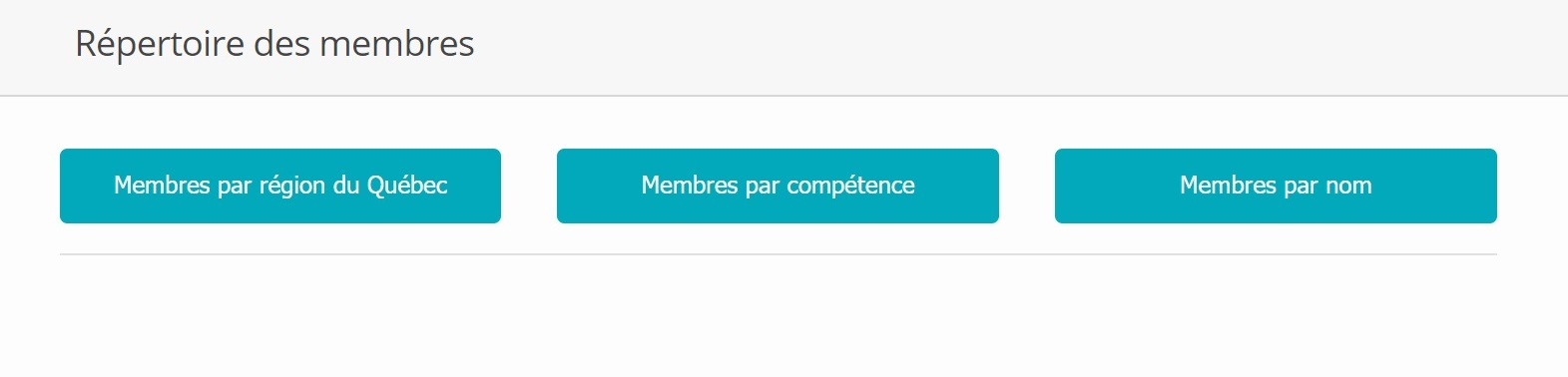 Members Directory example - French